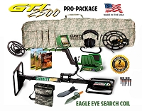 Garrett GTI 2500 Pro Package with Treasure Hound Eagle Eye Search Coil