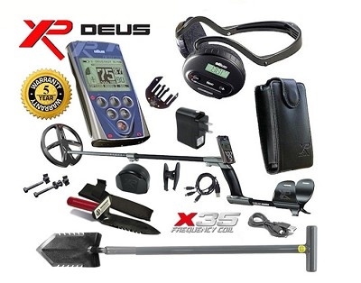 "XP DEUS with WS4 Headphones +Remote + 9"" X35 Wireless Coil"