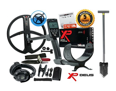 "XP DEUS Metal Detector + WS5 Headphones + 11"" X35 Wireless Search Coil"